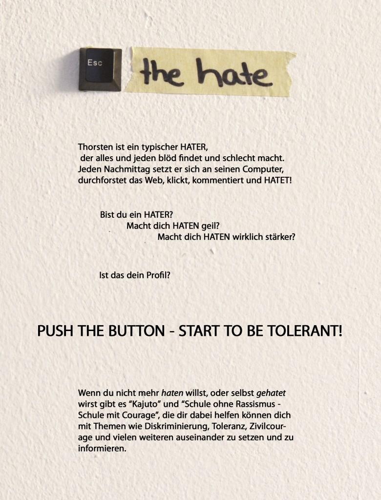 Escape the hate KAJUTO Flyer rueck